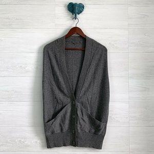 Vince 100% Cashmere Gray Button Up Vest